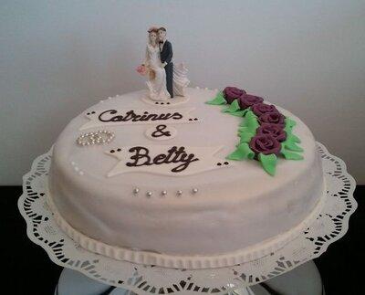 Bruidstaart 1 laags