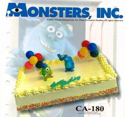 Amerikaanse taart Monster Inc